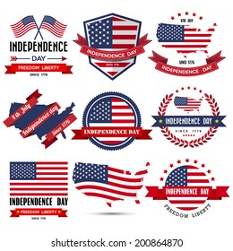 Independence day badge and label.Illustration eps10
