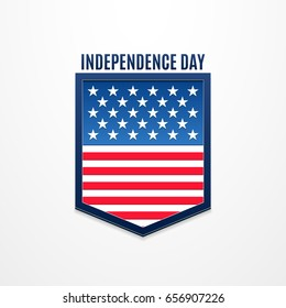 Independence day banner. 4 July. American holiday logo. Vector illustration for poster, brochure, news, design, sale. White background