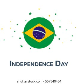 Independence day of Brazil. Patriotic Banner. Vector illustration