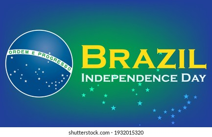 The Independence Day of Brazil (Portuguese: Dia da Independência), is a national holiday observed in Brazil on 7 September of every year. Vector EPS 10.
