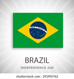 Independence Day.Use for brochures, printed materials, signs, elements, etc. Flag of Brazil