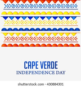 Independence day of cape verde. Vector illustration.