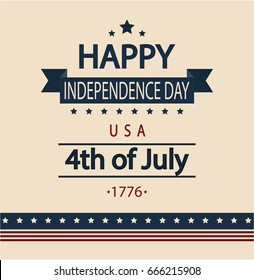 Independence day card or background. vector illustration.