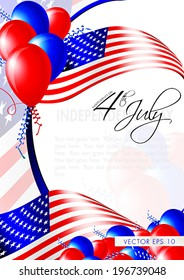 Independence day card - layout template - eps10 vector background