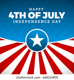 Independence day design. Holiday in United States of America, celebrate 4th of July