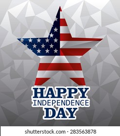 Independence day design over gray background, vector illustration.