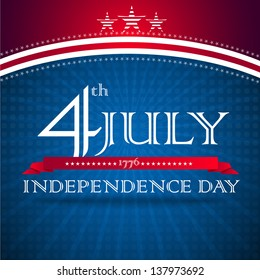 Independence day design with text - vector