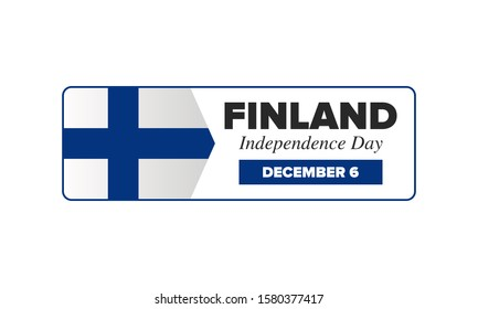 Independence Day in Finland. National happy holiday, celebrated annual in December 6. Finland flag. Patriotic elements. Poster, card, banner and background. Vector illustration