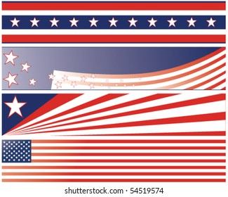 independence day fourth july banners