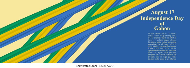 Independence Day of Gabon vector illustration. Suitable for greeting card, poster and banner.
