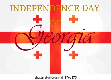 Independence Day of Georgia Celebration Banner. Vector