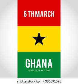 Independence Day of Ghana 3 March Celebration Card, Background, Badges,flag, Vector Template.
