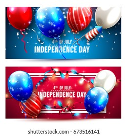 Independence Day headers or banners