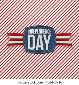 Independence Day Holiday Emblem with Type