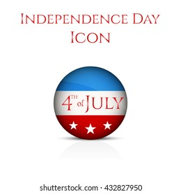 Independence day icon.  Independence Day illustration.