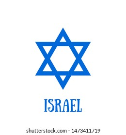 Independence Day icon with star of david. Israel flag icon