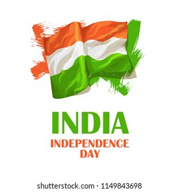 Independence Day of India. August 15. Indian tricolor.