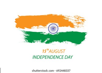 independence day of India concept with date and Indian flag colour