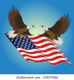 Independence Day, July 4, eagle. Vector illustration