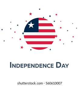 Independence day of Liberia. Patriotic Banner. Vector illustration