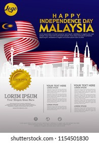 Independence Day Malaysia background template for a poster, leaflet, flyer and other user's