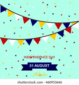 Independence day of Malaysia design illustration