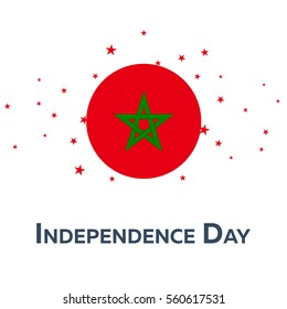 Independence day of Morocco. Patriotic Banner. Vector illustration