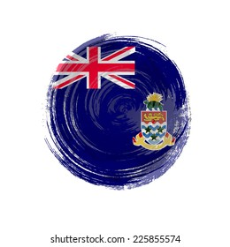Independence Day painted with a brush with paint. Grungy style. Brushstroke. Use for brochures, printed materials, icons, logos, signs,  elements. Flag of the Cayman Islands