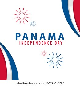 Independence Day of Panama Design Illustration Template. Design for banner, greeting cards or print.