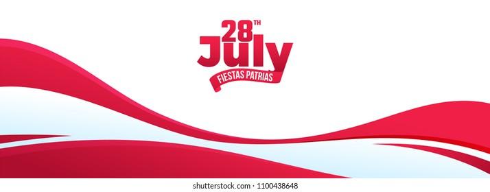 Independence Day of Peru Celebration Background.