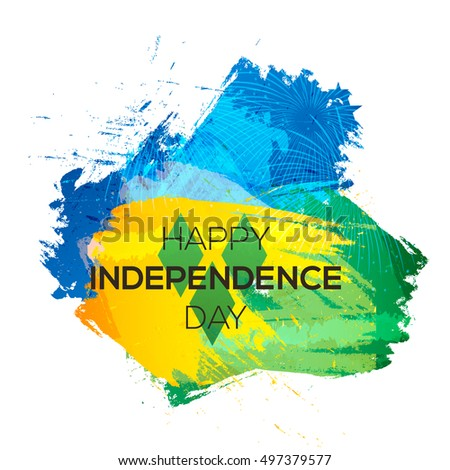 Independence Day Saint Vincent Stock Vector (Royalty Free