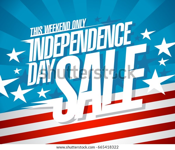 Independence day sale vector banner concept