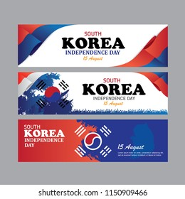 Independence day south korea vector backgroud, banner, wallpaper.