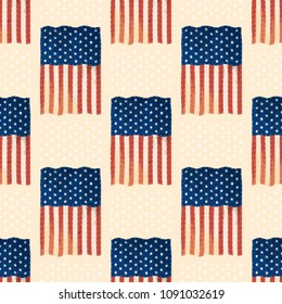 e1b23d68263 Independence day USA flags United States american symbol freedom national  emblem seamless pattern background vector illustration