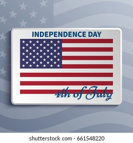 Independence day  Vector American flag Fourth of July