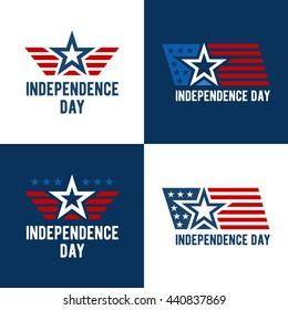 Independence Day Vector Design. July Fourth. Vector illustration.