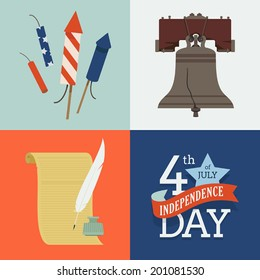 Independence day vector set