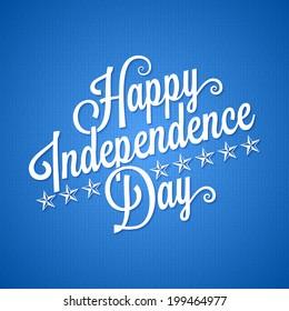 independence day vintage lettering background
