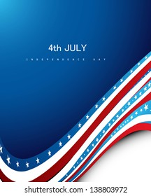 Independence day wave vector illustration