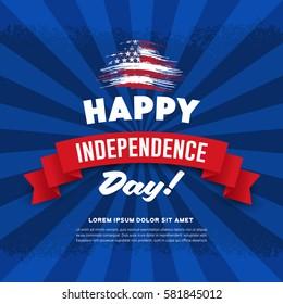 Independence Day.4 of July.Retro grunge background
