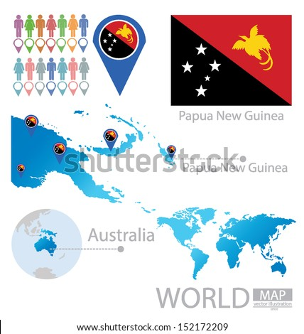 Independent State Papua New Guinea Australia Stock Vector (Royalty ...