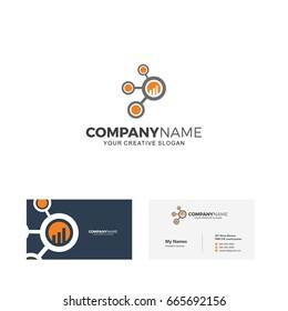 Index analysis logo vector illustration, Business card designs