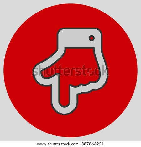 Index Finger Pointing Down Hand Gestures Stock Vector Royalty Free