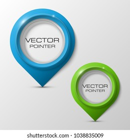 Index location on the map. Pointer position. Marker standing. Indicator destination. Origami infographic colorful pointrs set. Advertising design shape. Speech talking cloud. Vector label pointer tag