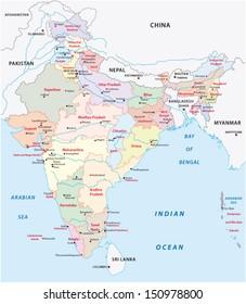 india administrative map