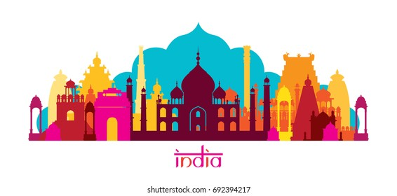 India Architecture Landmarks Skyline, Shape, Cityscape, Travel and Tourist Attraction