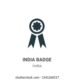 India badge vector icon on white background. Flat vector india badge icon symbol sign from modern india collection for mobile concept and web apps design.