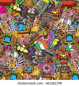 India Collage. Indian Independence Day theme. National symbols of 15 August.