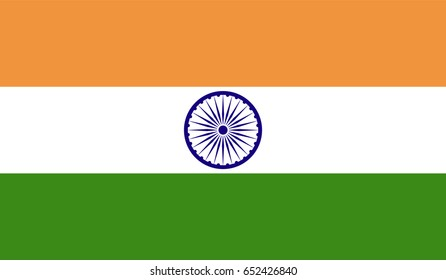 india contry flag with high resolution vector.
