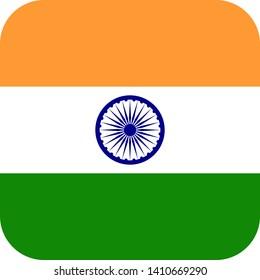 india flag asia illustration vector eps